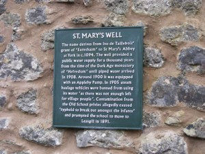 Day 3 St Marys Well Information